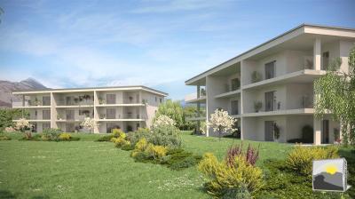 ARDON appartement rez-de-jardin neuf 2.5 pces de 73 m²